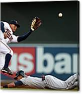 Lonnie Chisenhall And Eduardo Escobar Canvas Print
