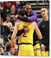 Lonzo Ball and Lebron James Canvas Print