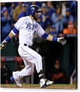Lorenzo Cain, Alex Gordon, and Wei-yin Chen Canvas Print