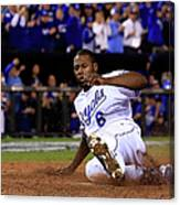 Lorenzo Cain and Billy Butler Canvas Print