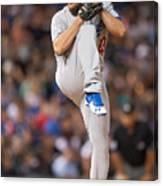 Los Angeles Dodgers v Colorado Rockies Canvas Print