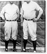 Lou Gehrig and Babe Ruth Canvas Print