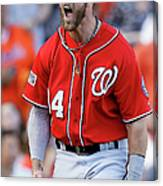 Madison Bumgarner and Bryce Harper Canvas Print