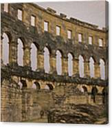 Magnificient Pula Arena In Croatia Canvas Print
