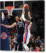 Marc Gasol and Andre Drummond Canvas Print
