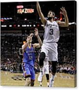 Marco Belinelli and Steven Adams Canvas Print