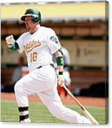 Marcus Semien and Billy Butler Canvas Print