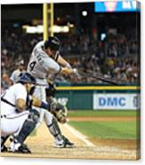 Marcus Semien and Paul Konerko Canvas Print