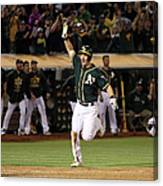 Mark Canha and Billy Butler Canvas Print