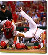 Matt Carpenter and Brayan Pena Canvas Print