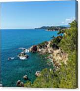 Mediterranean Views From The Cami De Ronda Canvas Print