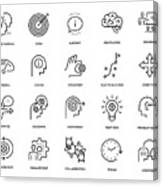 Mentoring Icon Set Canvas Print