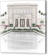 Mesa Temple - Celestial Series Canvas Print