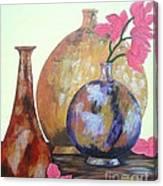 Metallic Vases Canvas Print