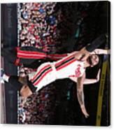 Miami Heat v Portland Trail Blazers Canvas Print