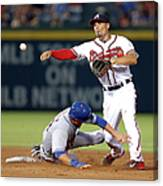 Michael Cuddyer and Jace Peterson Canvas Print