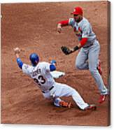 Michael Cuddyer and Jhonny Peralta Canvas Print