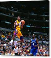 Michael Finley and Kobe Bryant Canvas Print