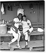 Mickey Mantle and Hank Aaron Canvas Print