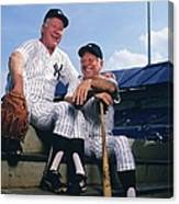 Mickey Mantle and Whitey Ford Canvas Print
