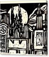 Midnight Wind Over Manhattan Canvas Print