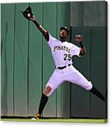 Miguel Montero And Gregory Polanco Canvas Print