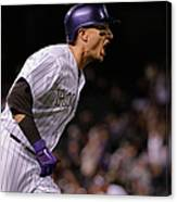 Mike Bolsinger and Troy Tulowitzki Canvas Print