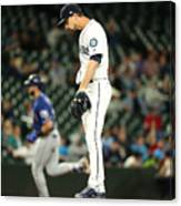 Mike Leake and Joey Gallo Canvas Print