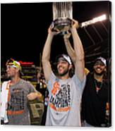 Mike Morse, Ryan Vogelsong, and Madison Bumgarner Canvas Print