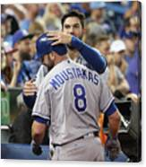 Mike Moustakas and Eric Hosmer Canvas Print
