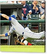 Mike Moustakas And Lonnie Chisenhall Canvas Print