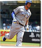 Mike Moustakas And Michael Pineda Canvas Print