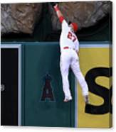 Mike Moustakas and Mike Trout Canvas Print