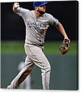 Mike Moustakas and Trevor Plouffe Canvas Print