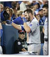 Mike Moustakas, Eric Hosmer, And Ned Yost Canvas Print