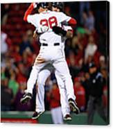Mike Napoli and Grady Sizemore Canvas Print