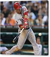 Mike Trout and Hank Conger Canvas Print