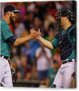 Mike Zunino and Tom Wilhelmsen Canvas Print