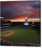 Milwaukee Brewers v Colorado Rockies Canvas Print