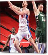 Milwaukee Bucks v Detroit Pistons Canvas Print