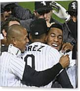 Moises Sierra And Alexei Ramirez Canvas Print
