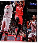Montrezl Harrell and Demar Derozan Canvas Print