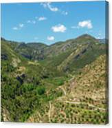Mountains Around Bejis In Castellon Canvas Print
