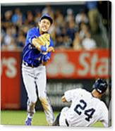 Munenori Kawasaki and Chris Young Canvas Print