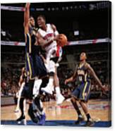 Myles Turner and Reggie Jackson Canvas Print