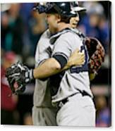 New York Yankees v New York Mets Canvas Print