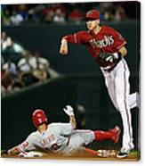 Nick Ahmed and Freddy Galvis Canvas Print