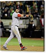 Nick Swisher and Nyjer Morgan Canvas Print