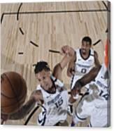Oklahoma City Thunder v Memphis Grizzlies Canvas Print