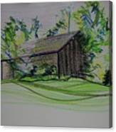 Old Barn At Wason Pond Canvas Print